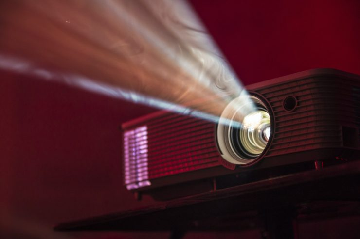 projector for a wedding slideshow