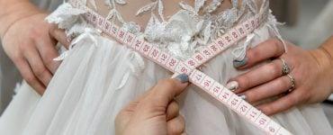 wedding dress too small