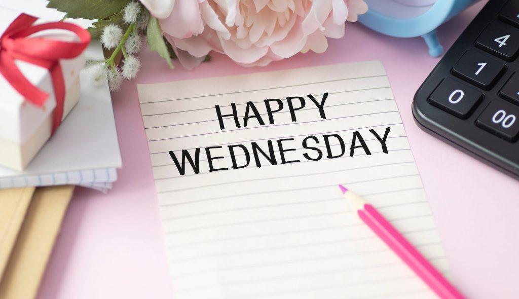 happy wednesday sign