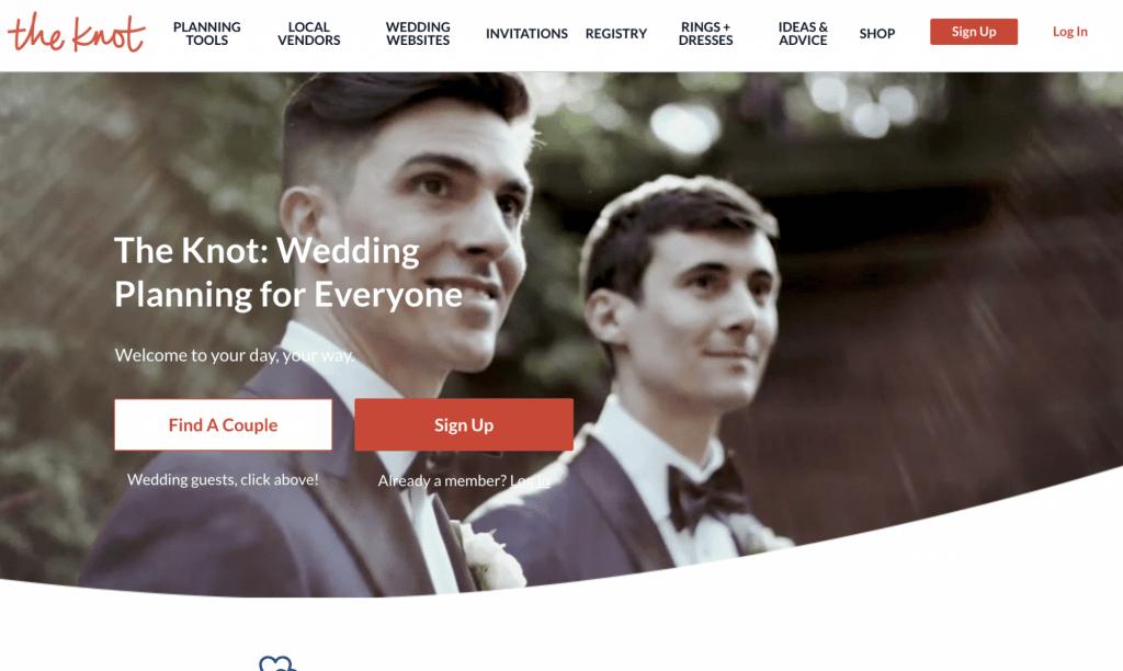 the knot website screenshot