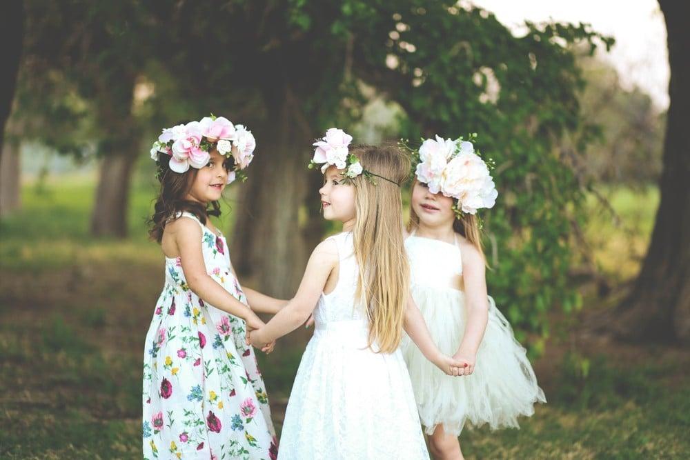 young girls at wedding
