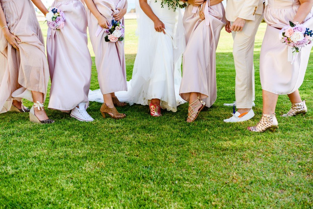 male female bridal party