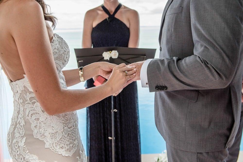 woman officiating wedding