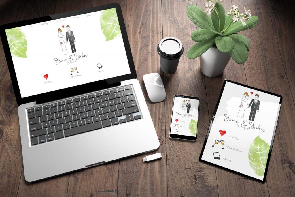 wedding website and app