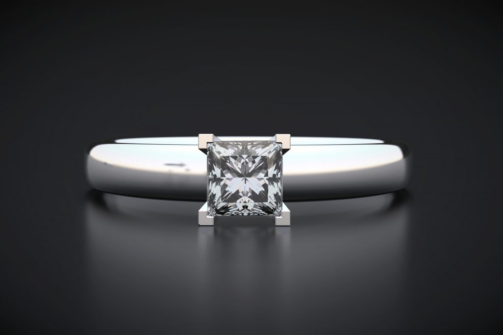 quad princess cut diamond ring