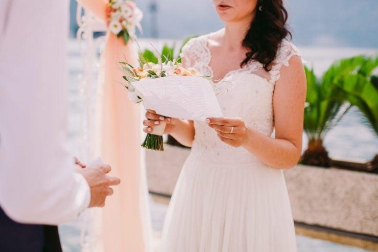 bridal wedding vows