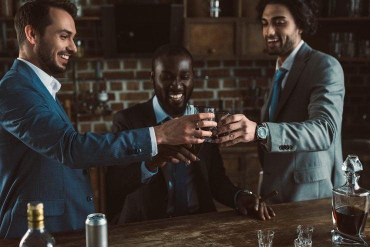 bachelor party at bar