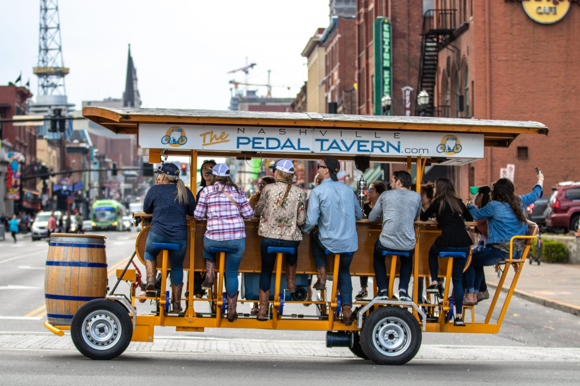 beer bicycle pedal tour nashville