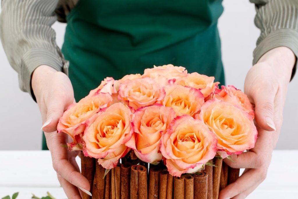 cinnamon rose bouquet