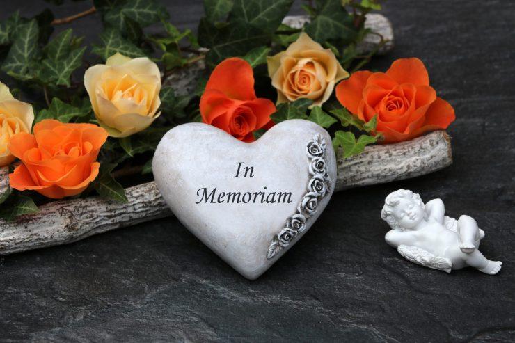 heart in memoriam for wedding
