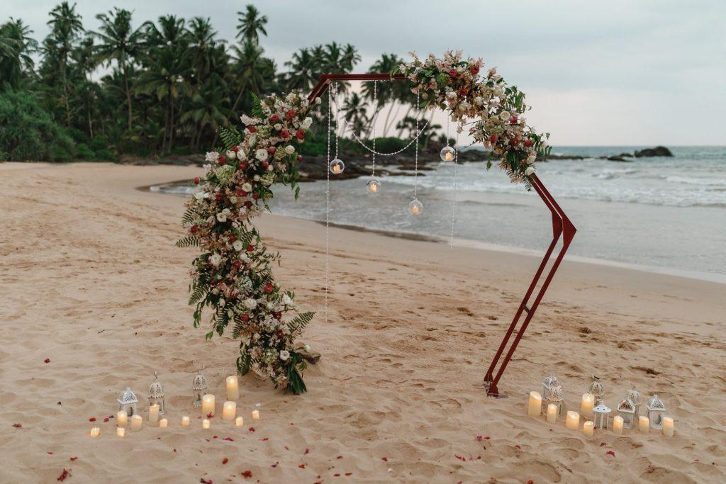 geometric wedding backdrop