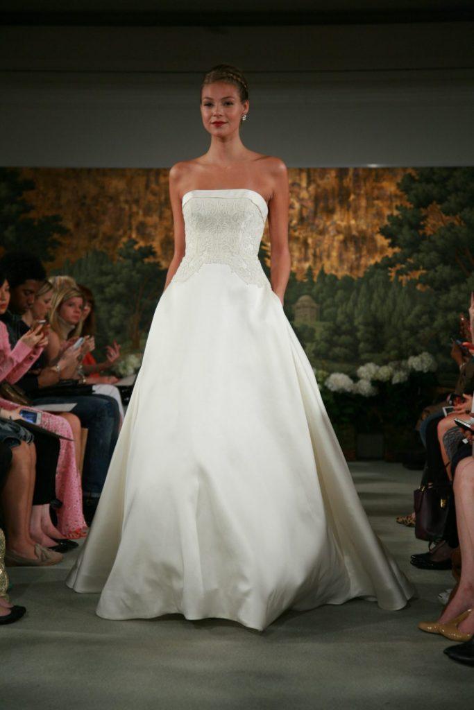a-line wedding dress model