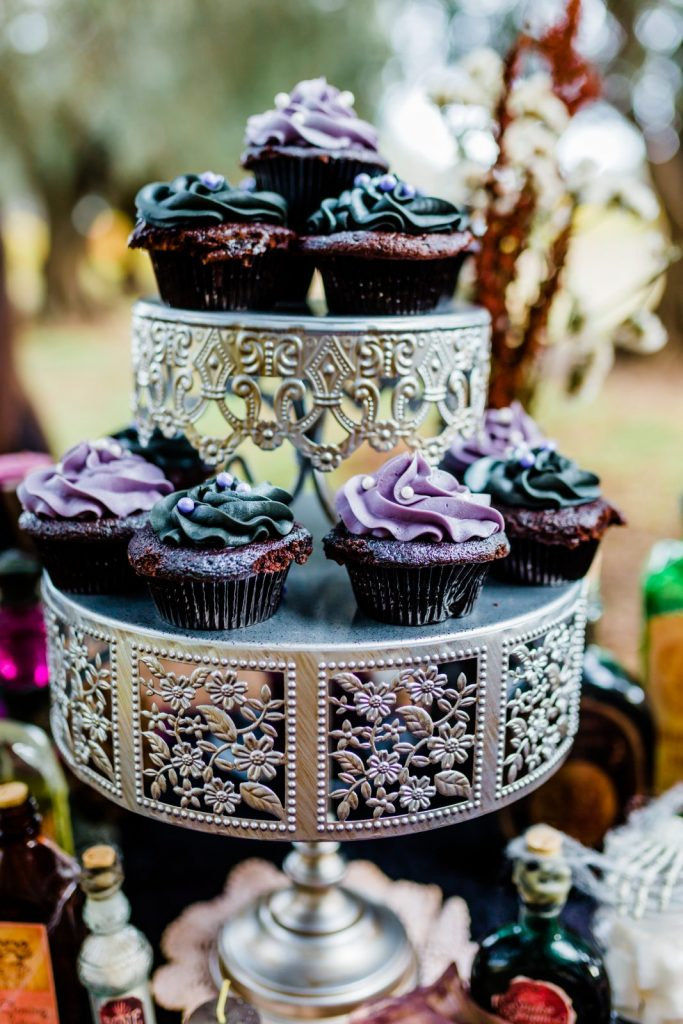 jewel toned cupcakes