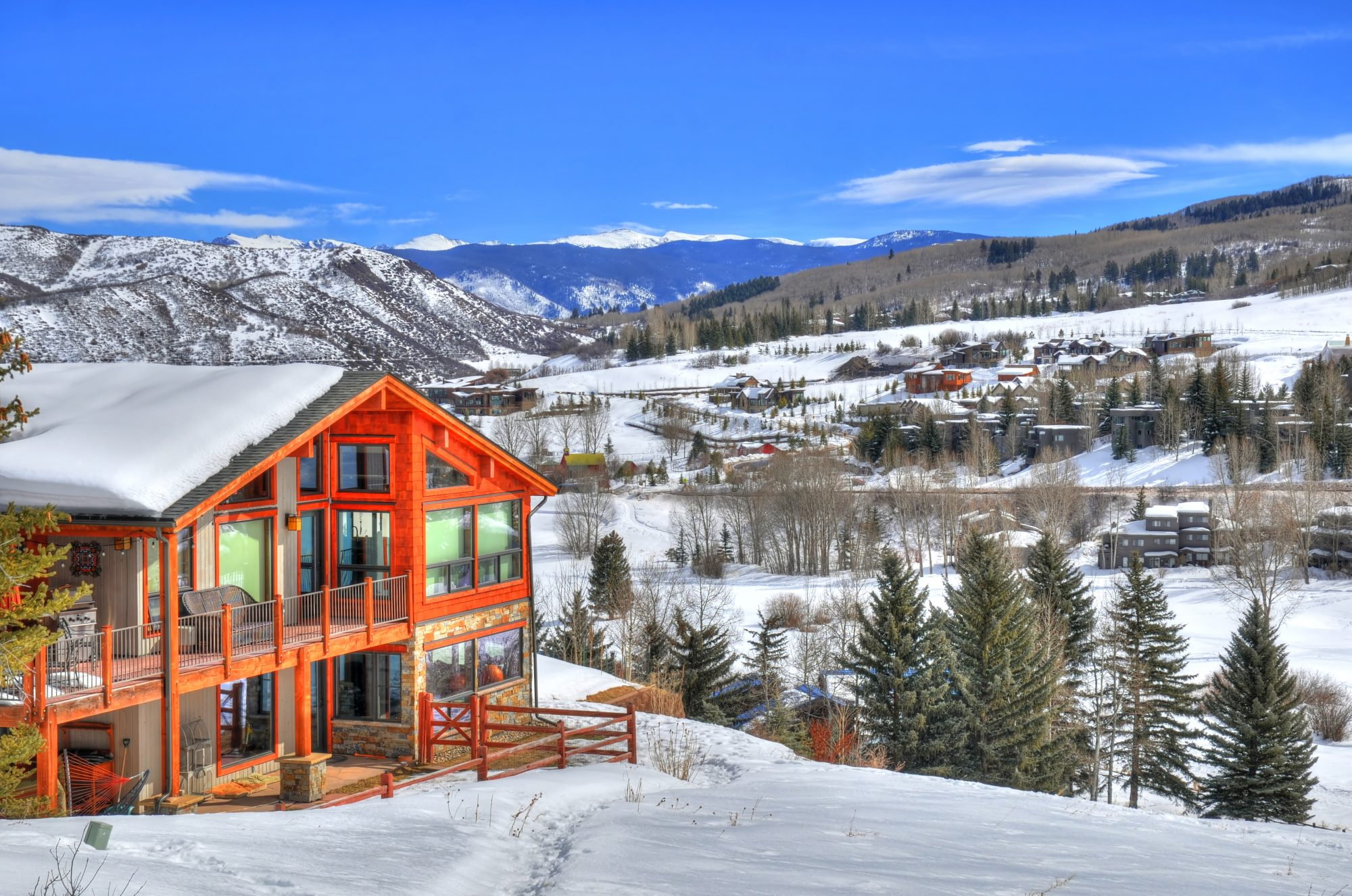 denver ski lodge in snow