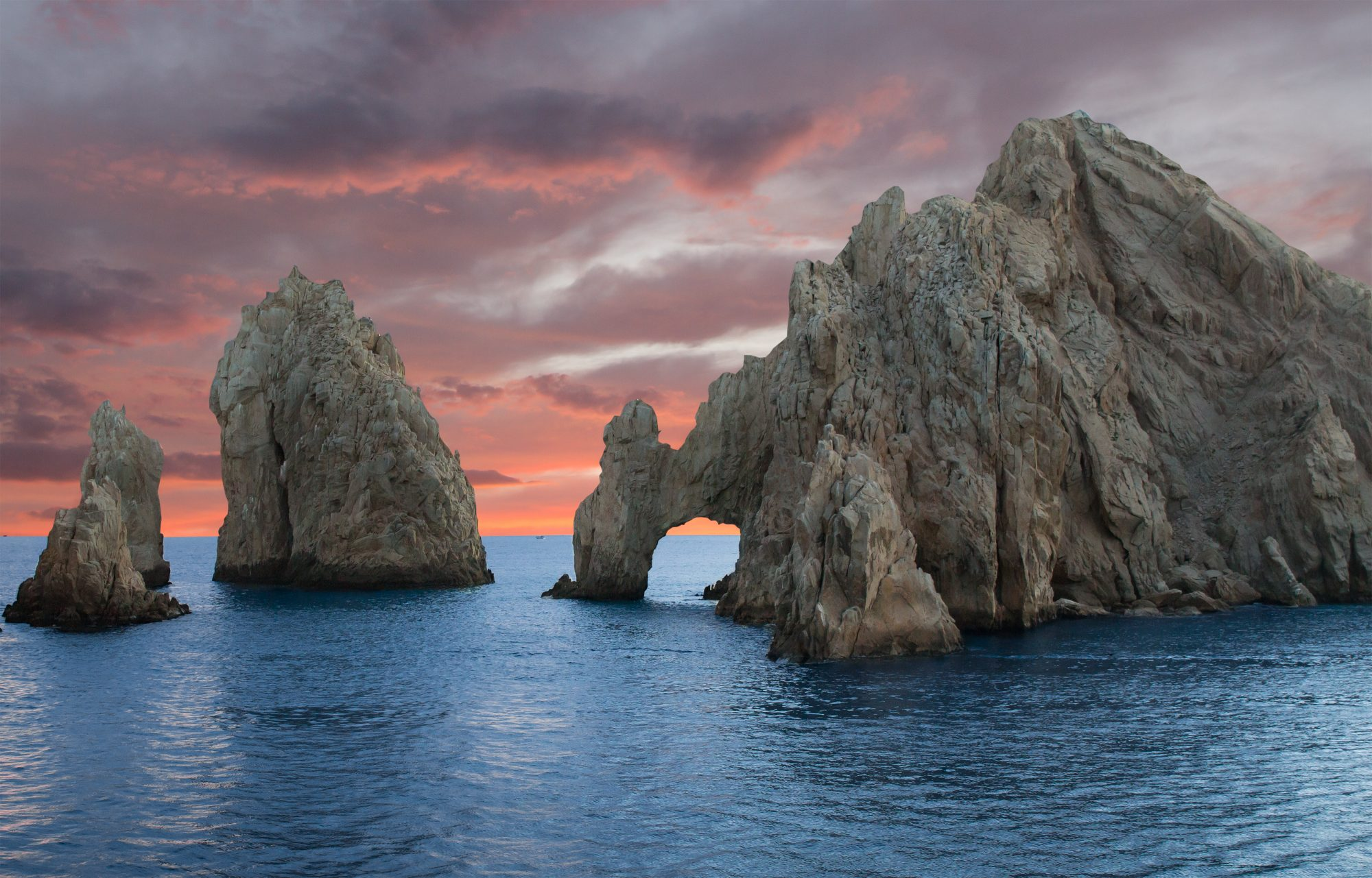 rock arches in ocean in cabo