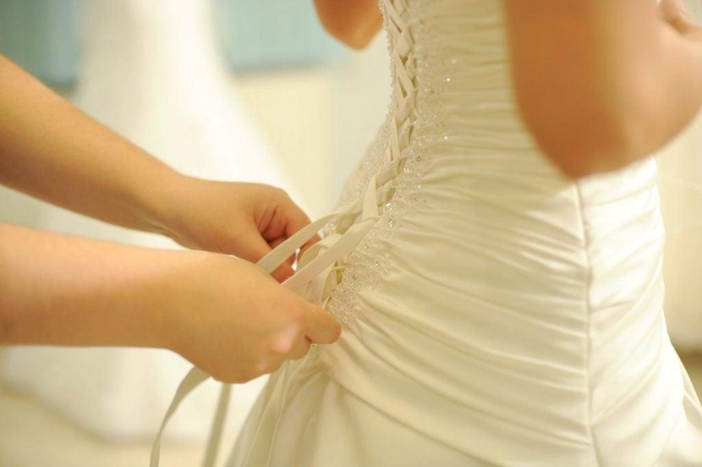 soft-white wedding dress