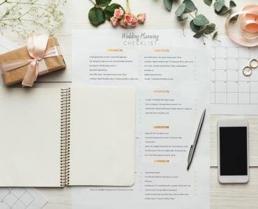 wedding planning checklist and notebook