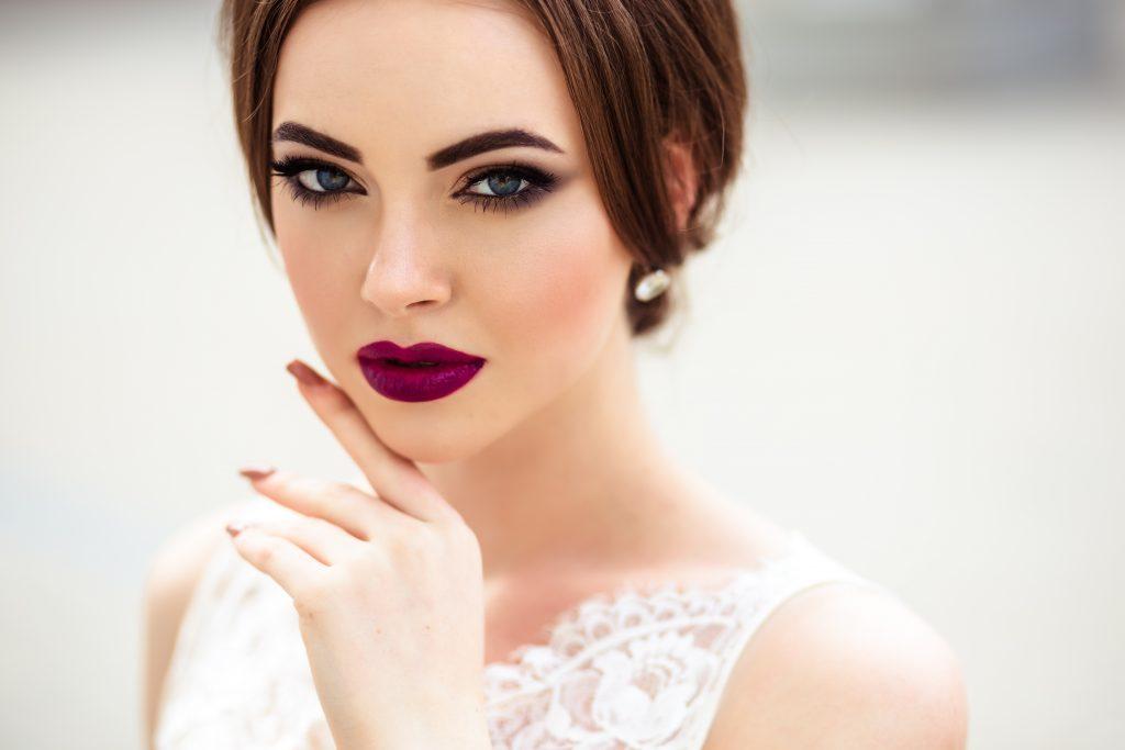 matte bride makeup