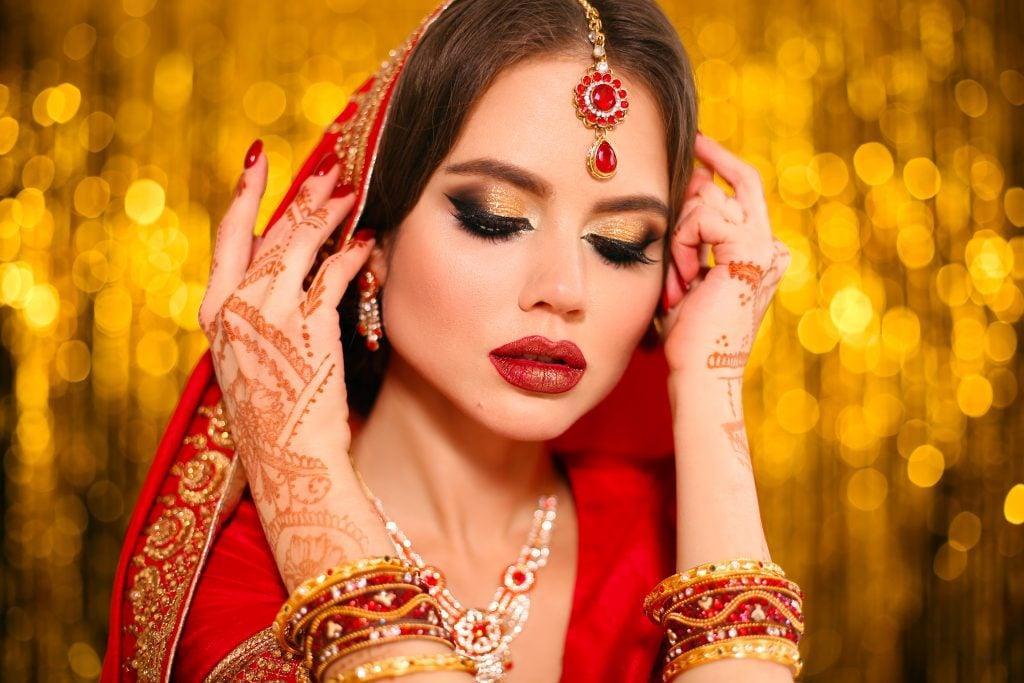 Sparkly bridal makeup