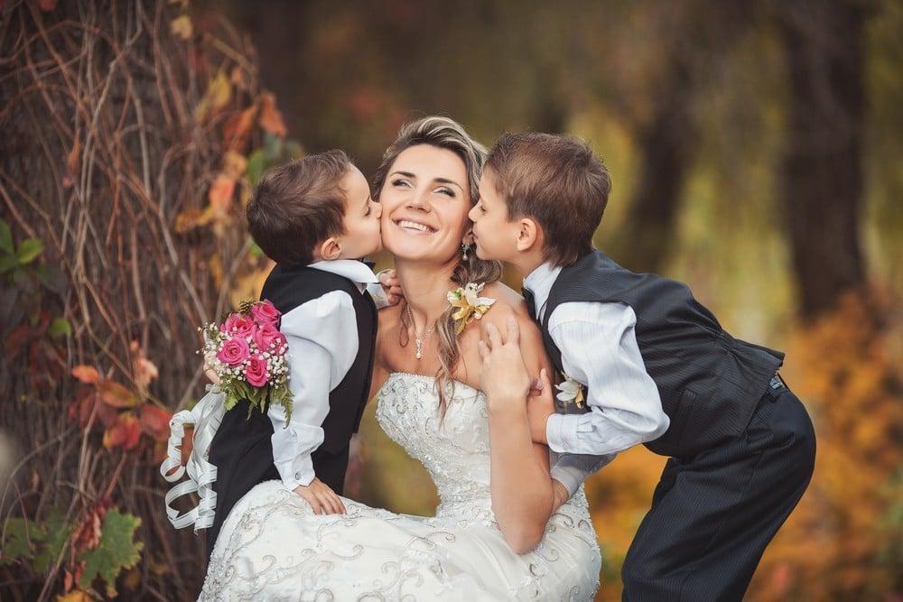 boys with bride