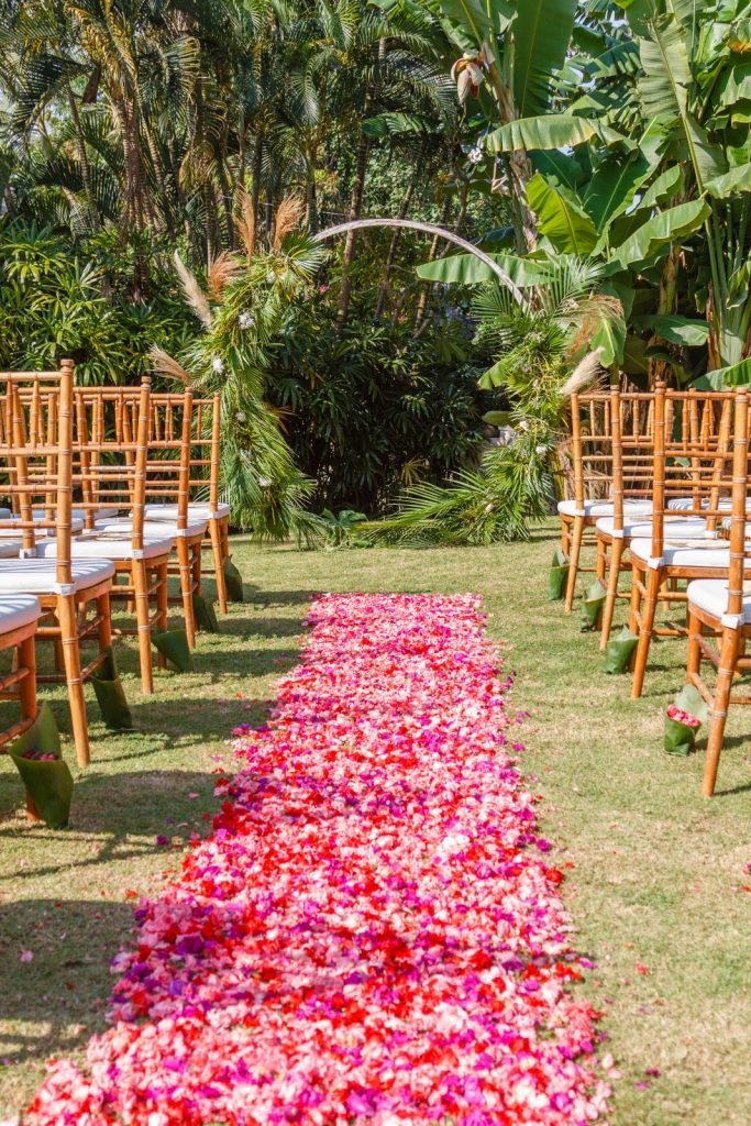floral aisle walkway for wedding