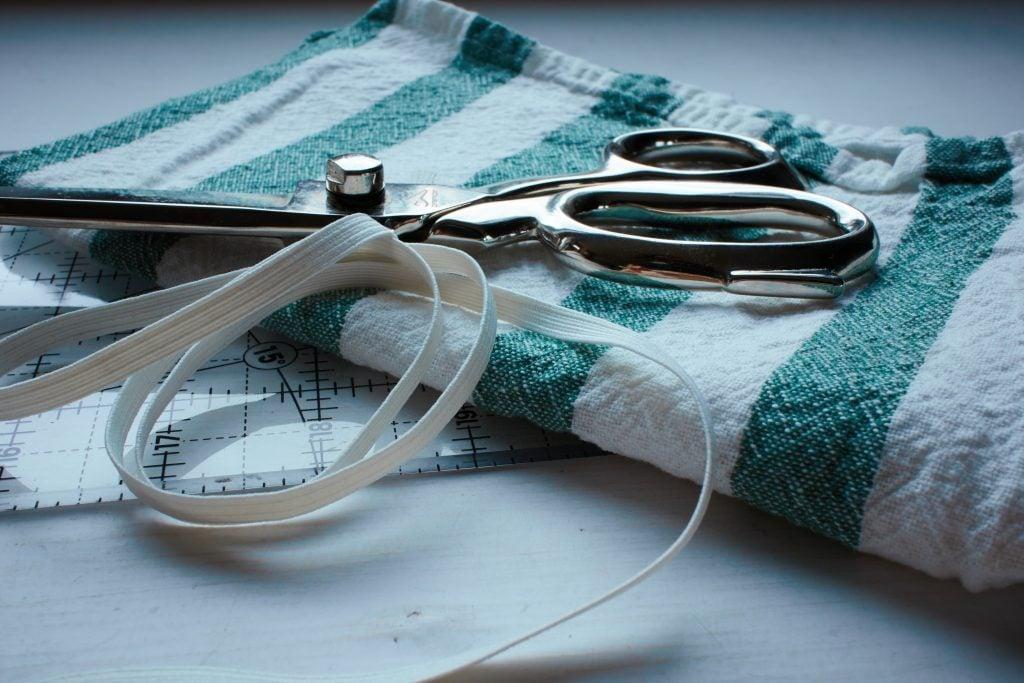 scissors and elastic