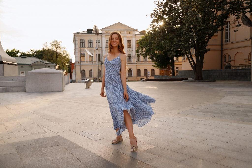 woman in sun dress