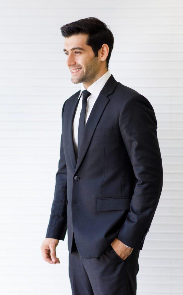 dark formal suit