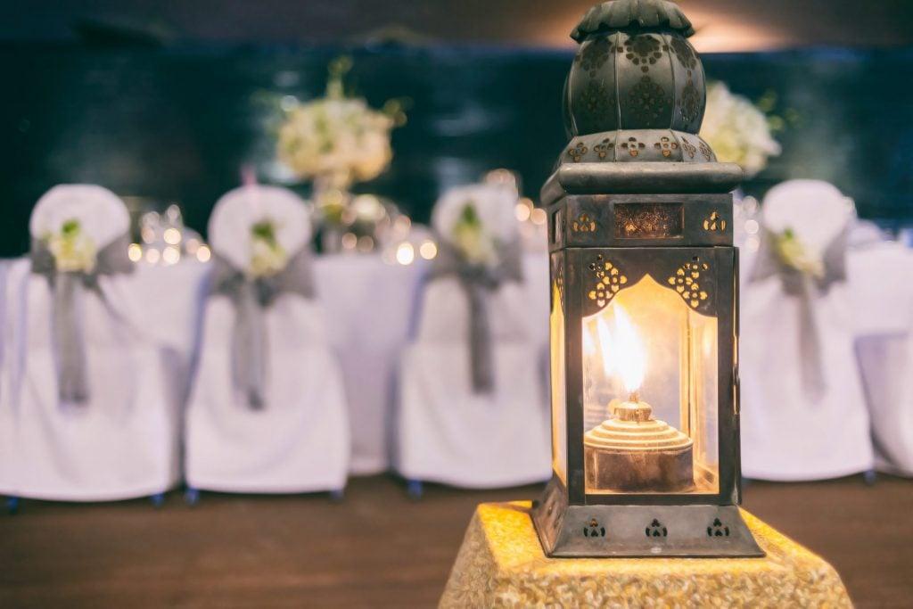 vintage wedding lantern