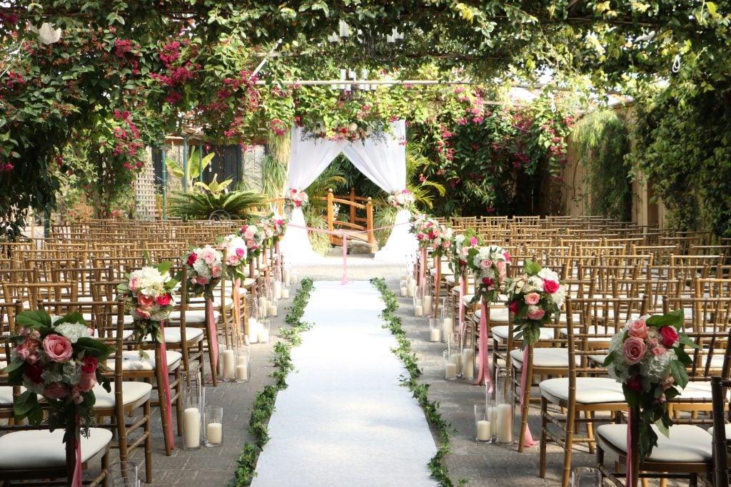 aisle and wedding venue