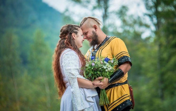 Viking wedding couple