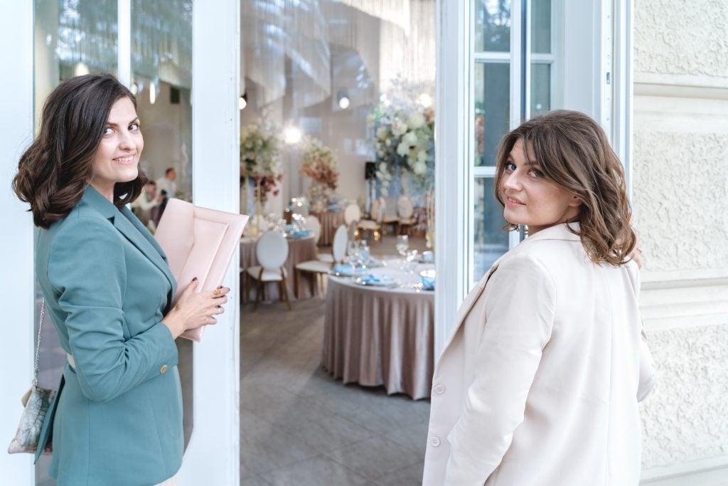 Wedding planners at wedding banquet hall