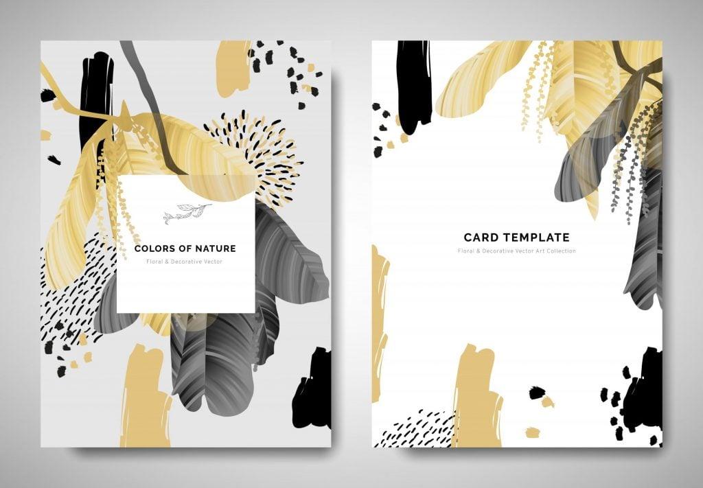 artistic fall wedding invitations