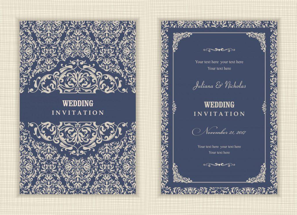 patterns on fall wedding invitations