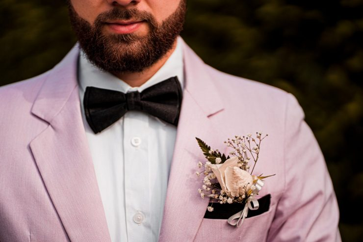 a groom's boutonniere