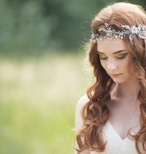 bride with boho wedding hair