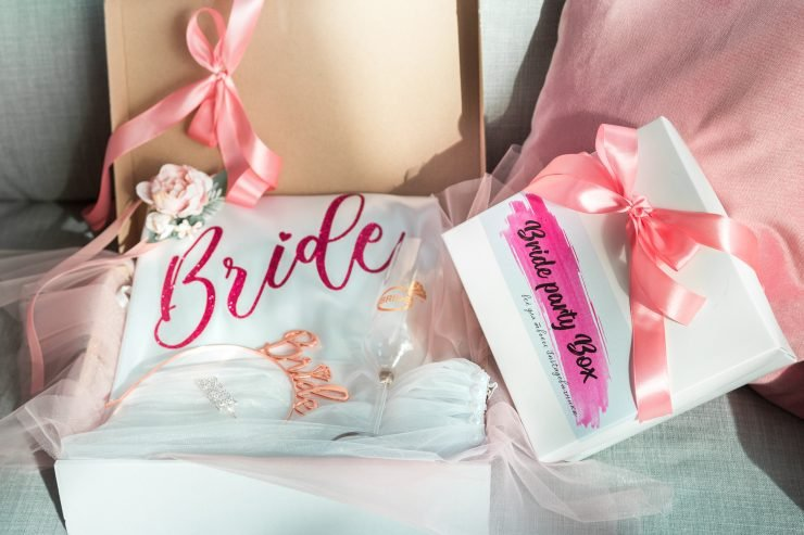 bridal-themed box