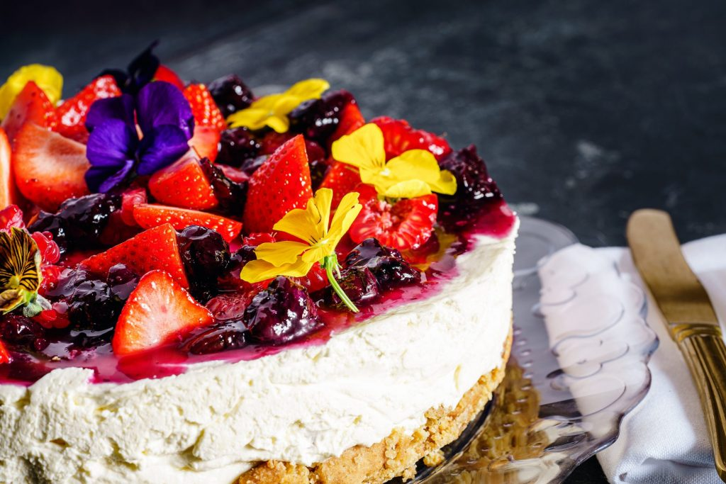 cheesecake with fruit on top