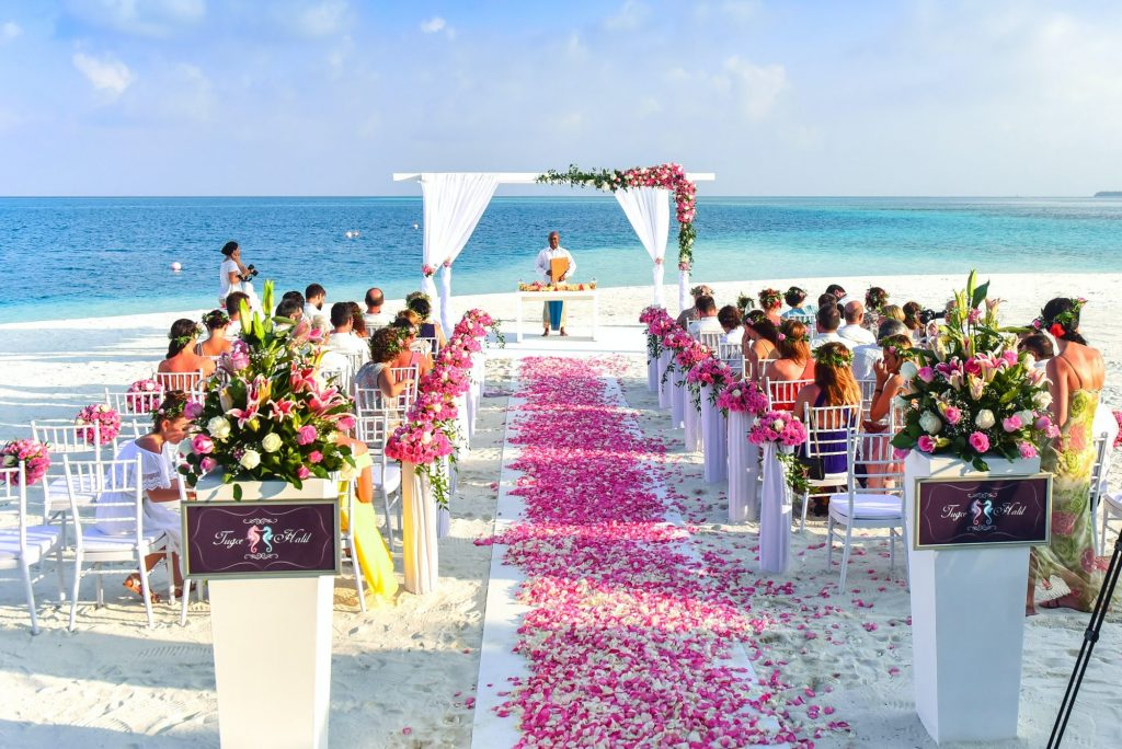 ceremony space on the beach