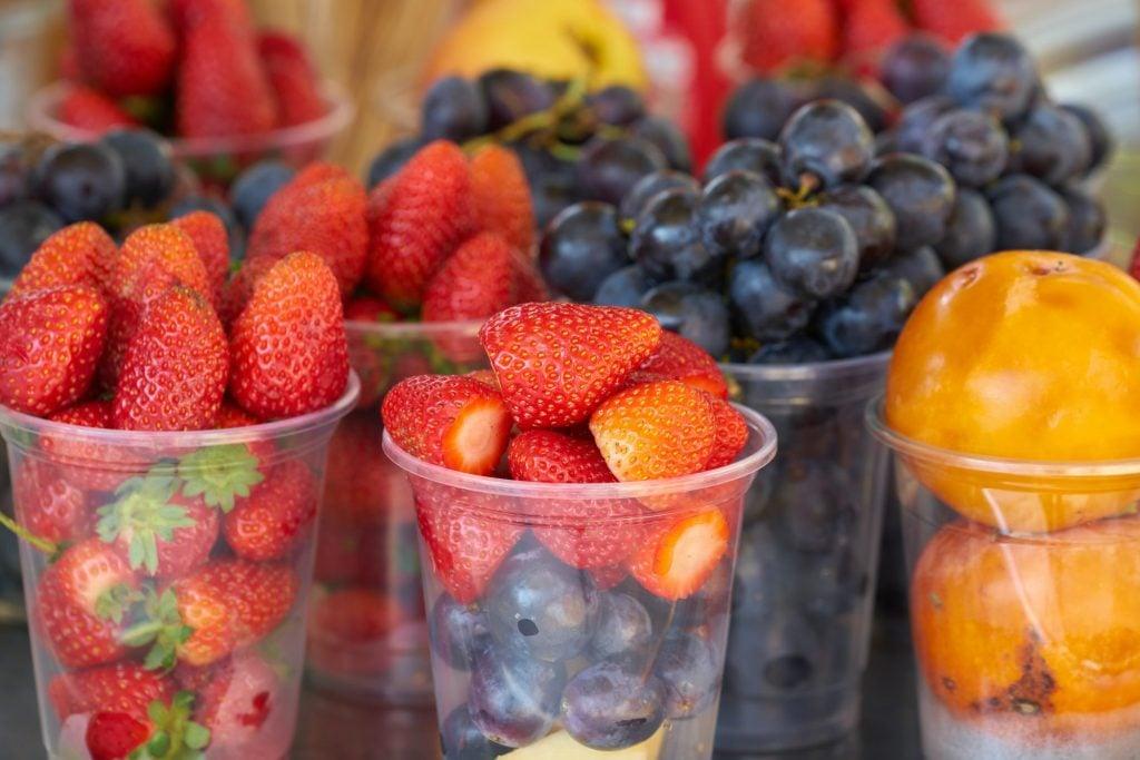 fresh fruit cut up