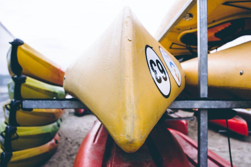 canoes at wedding
