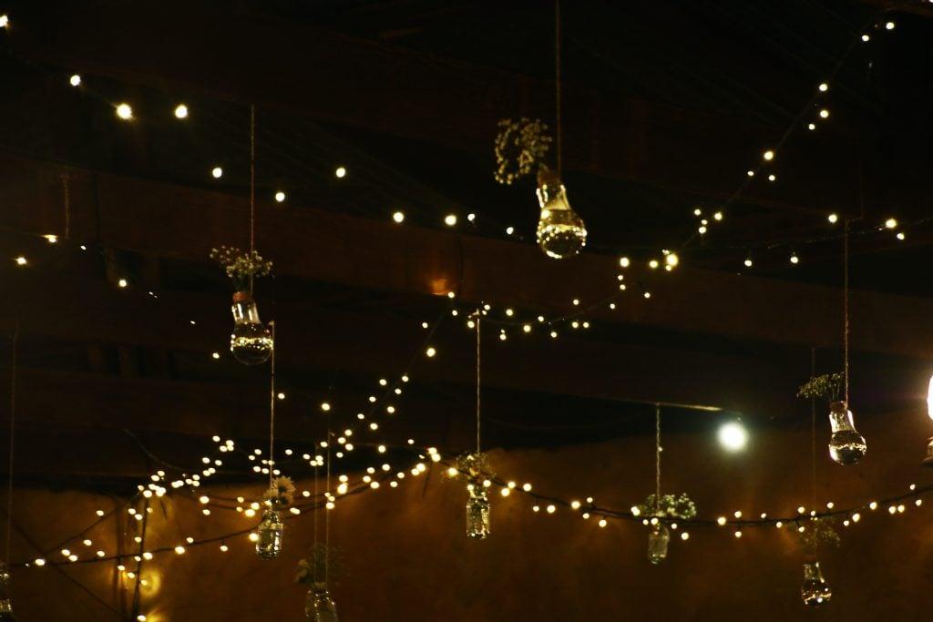 string lights wedding