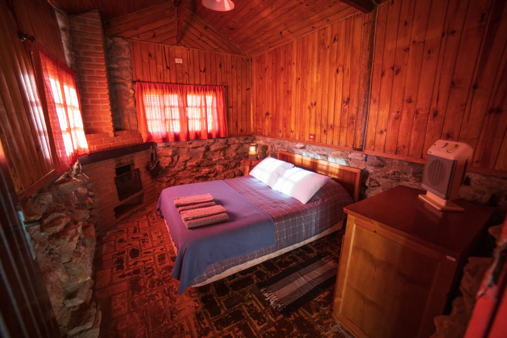 rustic cabins at wedding