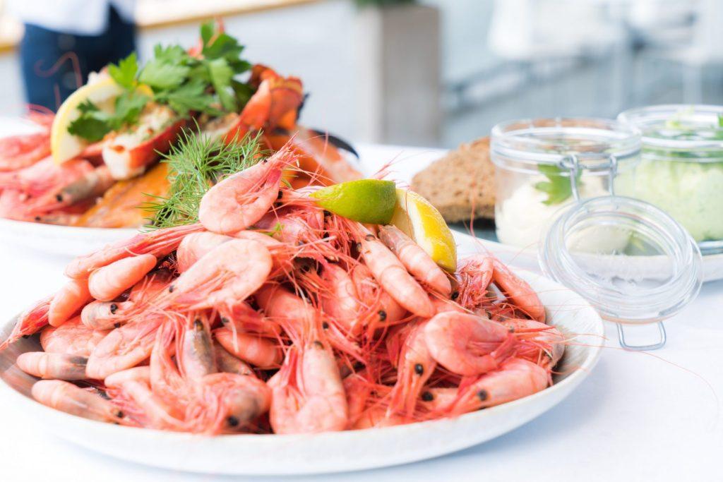 seafood at wedding reception