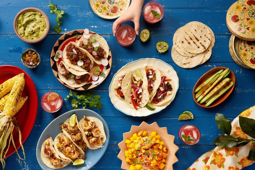Mexican food on table