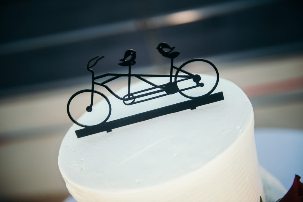 bicycle on top of cake