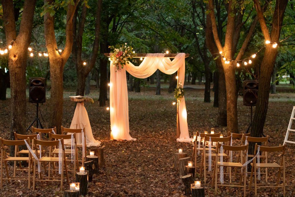 campground wedding ceremony