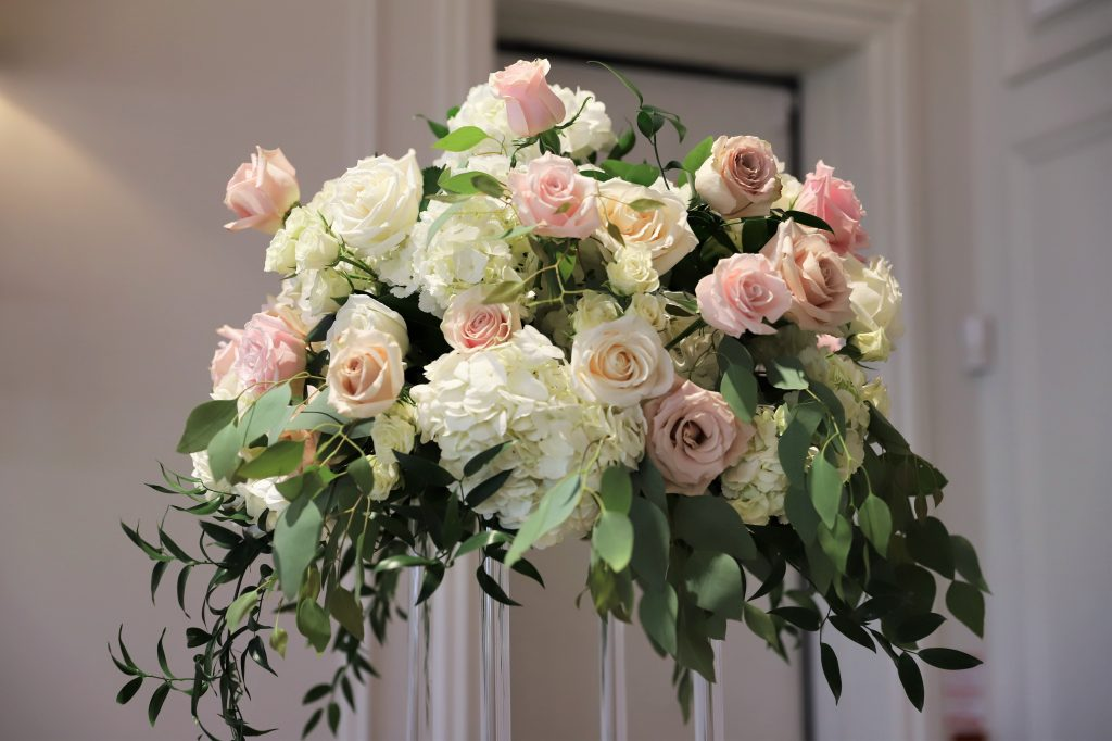 real flowers with faux elements