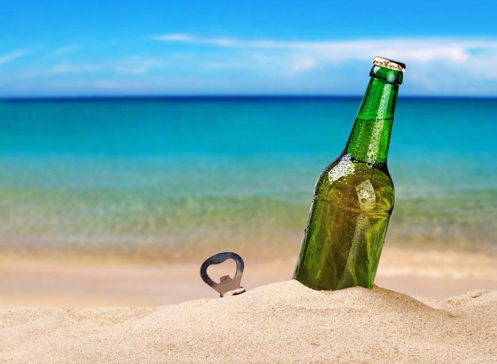 bottle opener on the beach