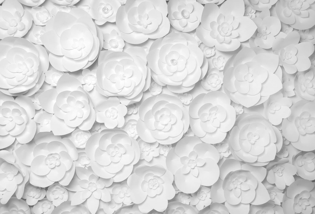 paper flowers at ceremony